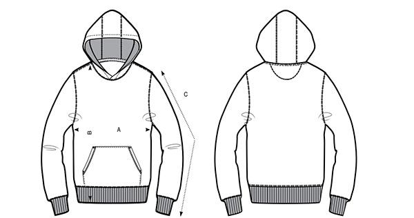 taille du sweatshirt